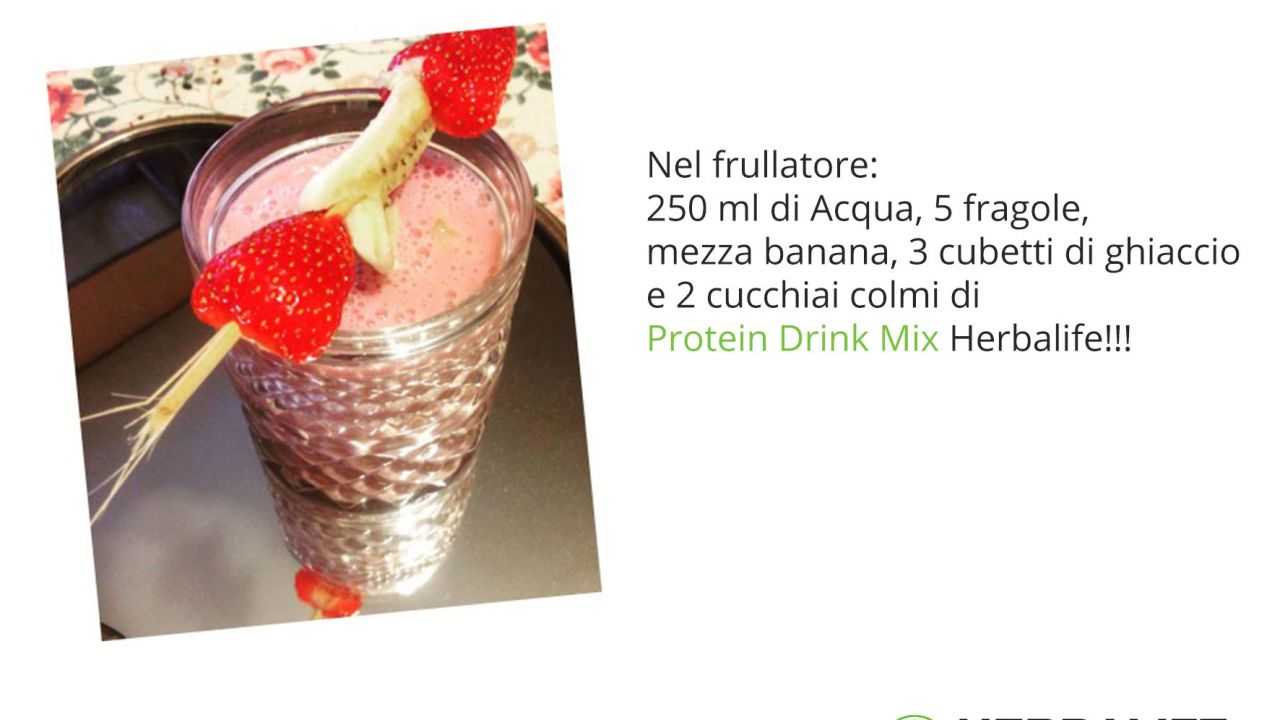 Protein Drink Mix e Fragole